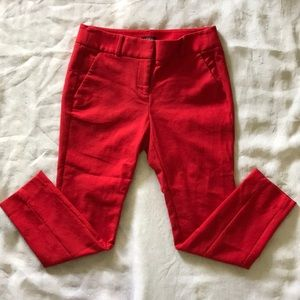 Loft red Marisa skinny pants